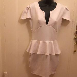 Dresses & Skirts - Stunning White Peplum Dress